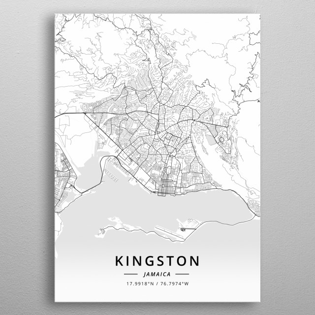 Fine Kingston Jamaica By Designer Map Art Metal Posters Displate Home Remodeling Inspirations Genioncuboardxyz