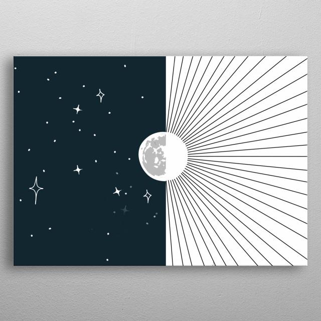 Moon and Sun metal poster