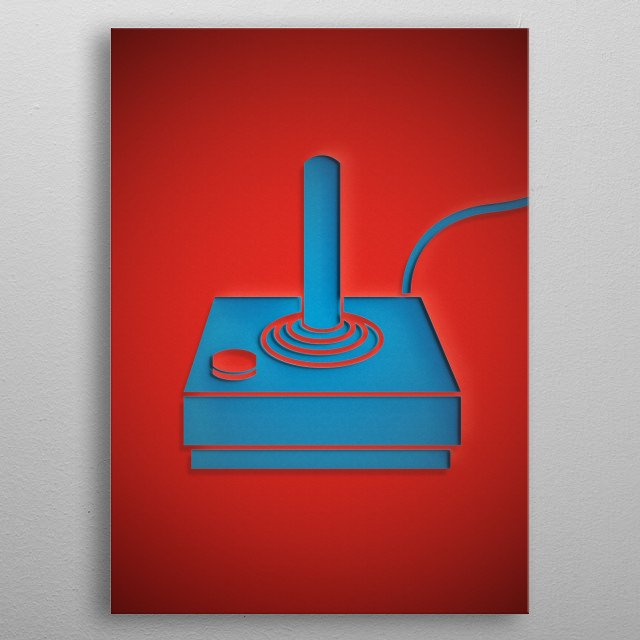 Controller PaperCut Style metal poster