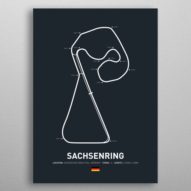 Sachsenring a circuit in Germany on the 2018 MotoGP Calendar. metal poster