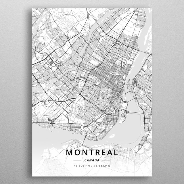 Montreal, Canada metal poster