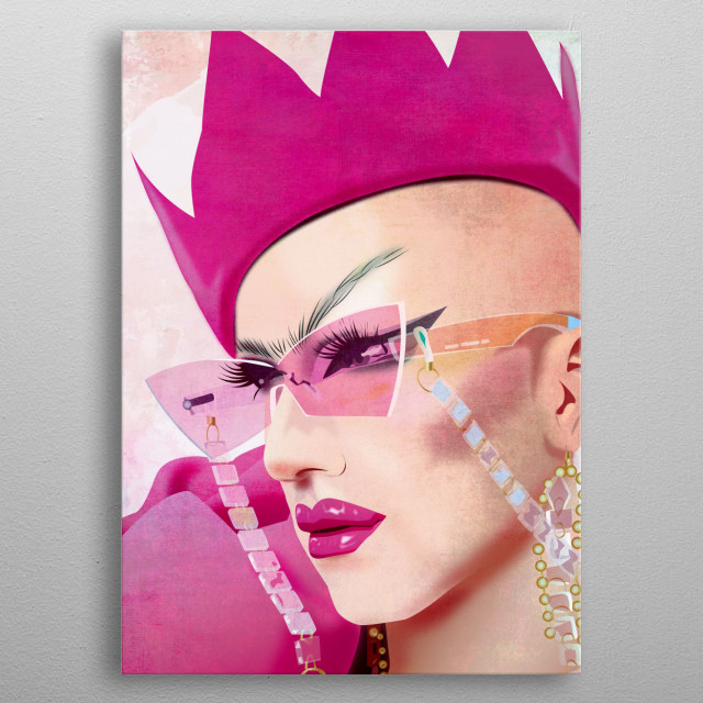 High-quality metal print from amazing Drag collection will bring unique style to your space and will show off your personality. metal poster