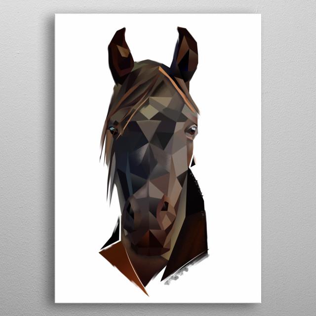 Modern horse design metal poster