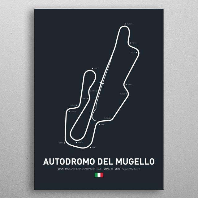 Autodromo Del Mugello a circuit in Italy on the 2018 MotoGP calendar. metal poster