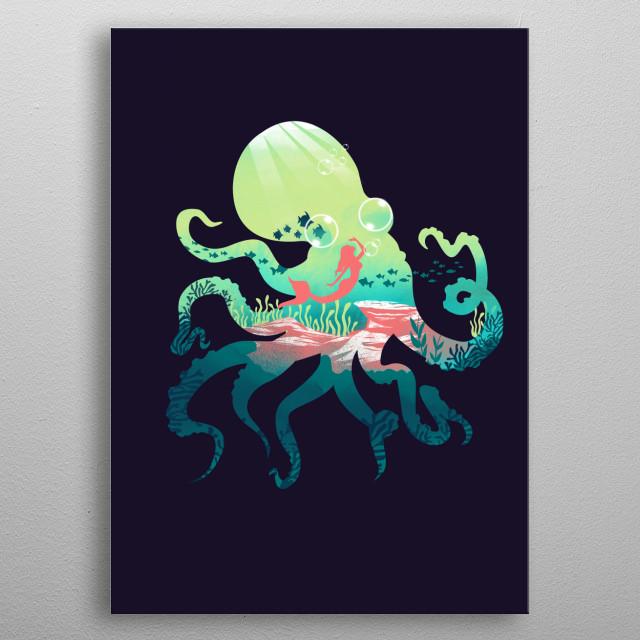 Wonder Sea metal poster