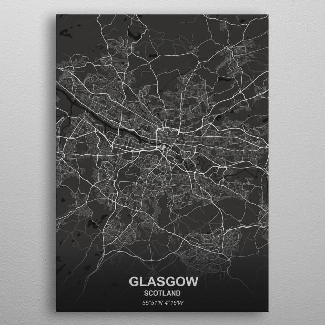 GLASGOW - SCOTLAND metal poster