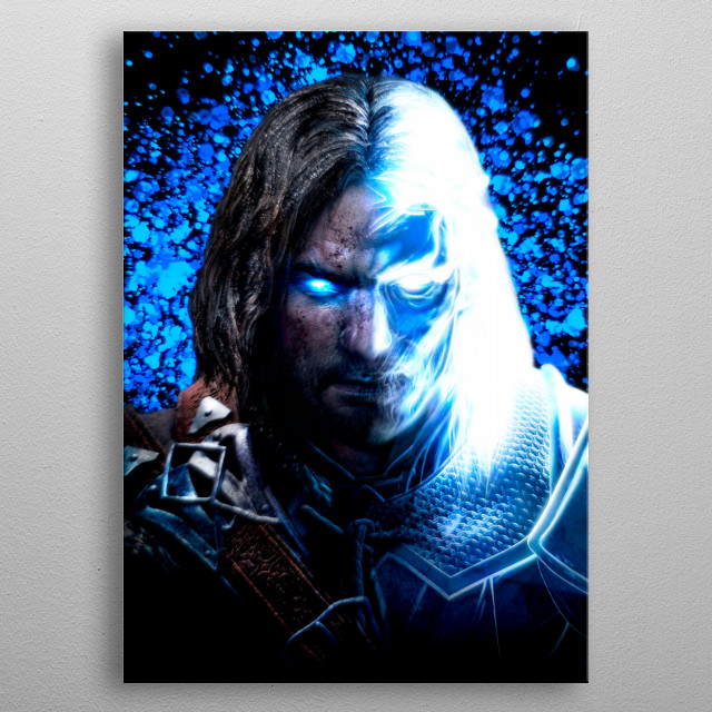 Talion character, from Middle Earth game. metal poster