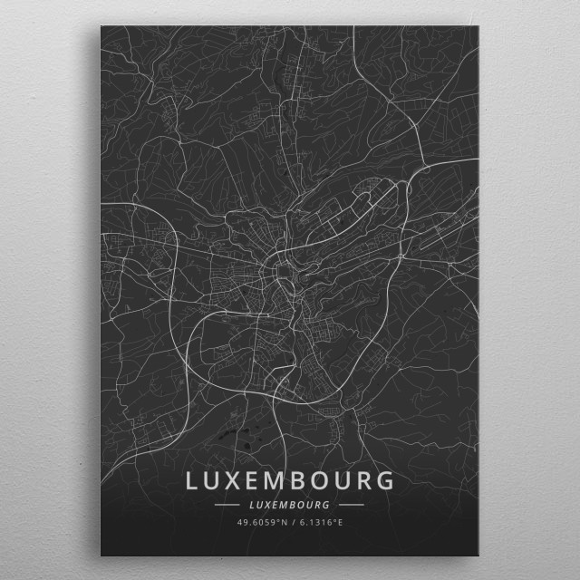 Luxembourg, Luxembourg metal poster