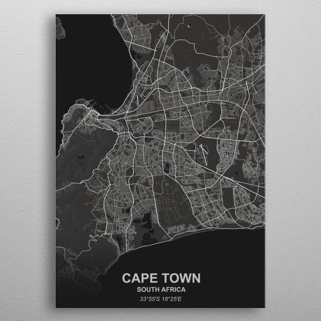CAPE TOWN - SOUTH AFRICA metal poster