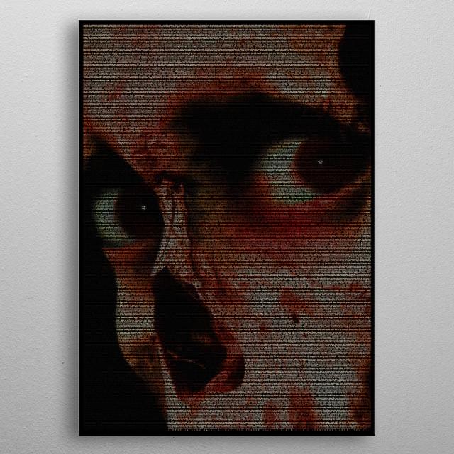 Evil Dead II Script Print metal poster