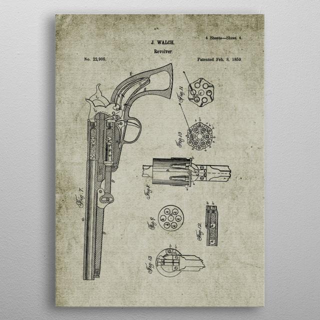 1859 Revolver-Patent metal poster