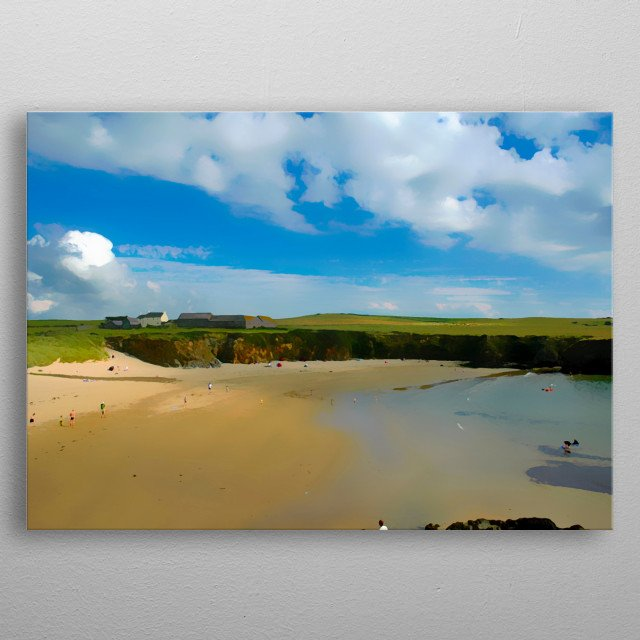 Cable Bay Anglesey metal poster