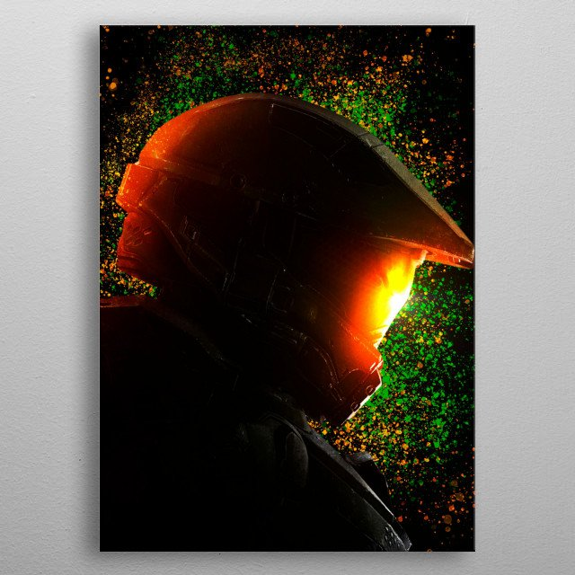 Master Chief, by Halo video game series. metal poster