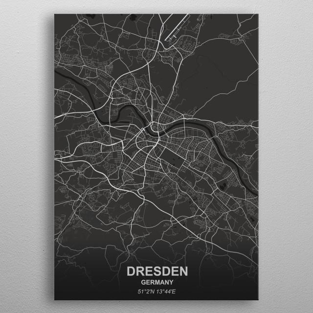 DRESDEN - GERMANY metal poster