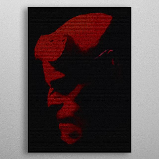 Hellboy Screenplay Print metal poster
