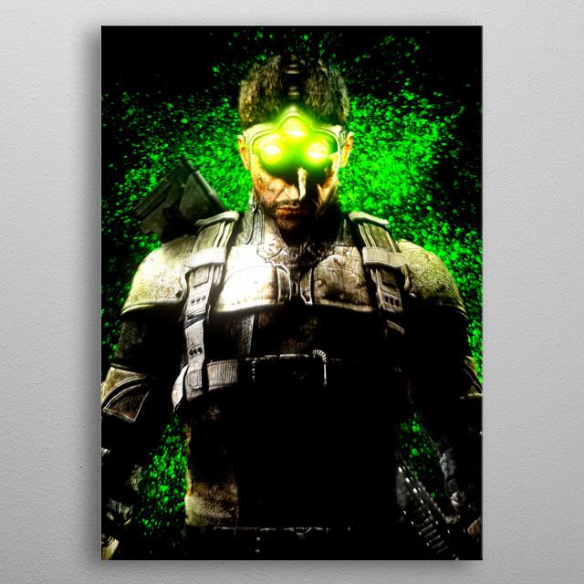 Sam Fisher, Splinter Cell video game series. metal poster
