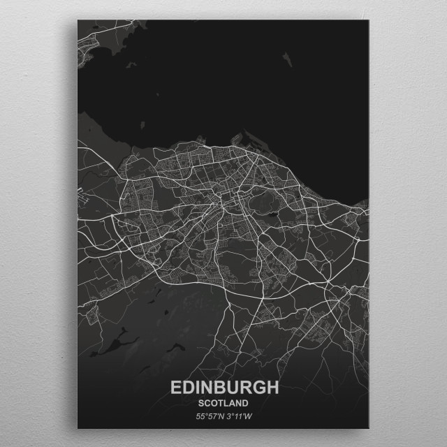 EDINBURGH - SCOTLAND metal poster
