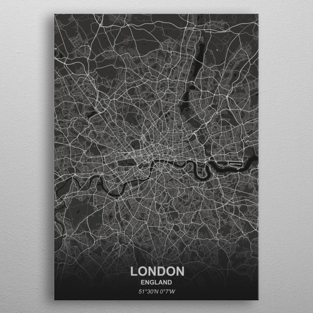 LONDON - ENGLAND metal poster