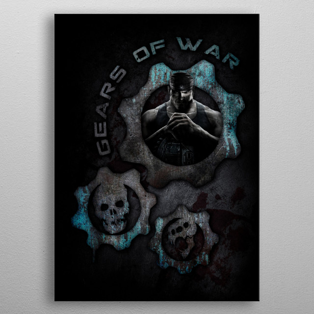 15   Double War of Gear metal poster