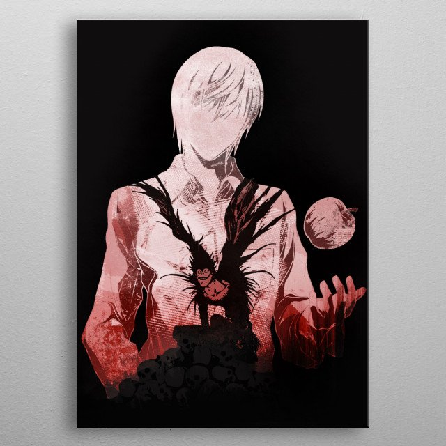 The journey of Kira, Light Yagami. metal poster
