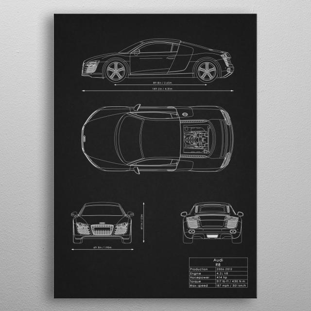 Audi R8 metal poster