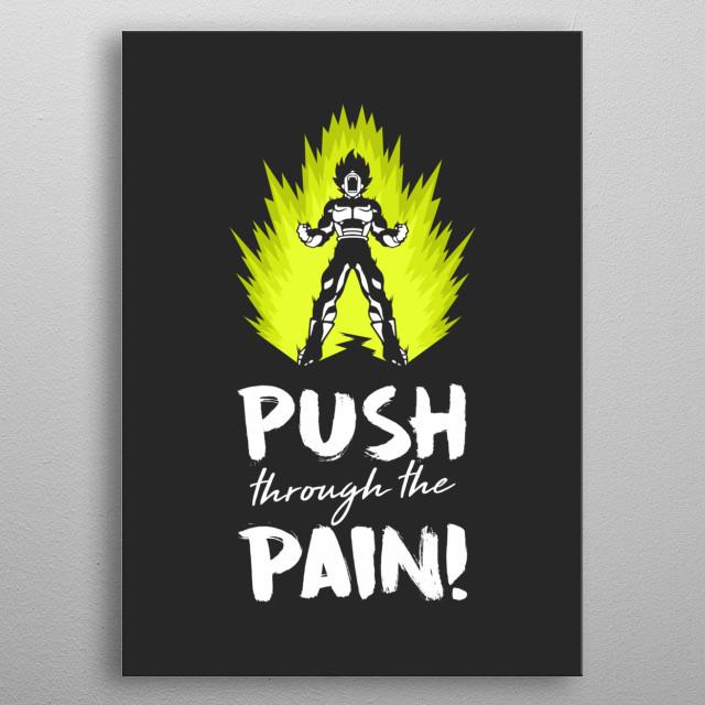 Push Through The Pain metal poster