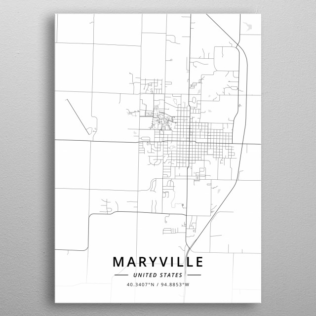 Maryville, United States metal poster