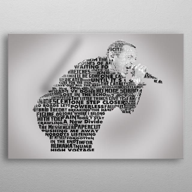 Chester Bennington Tribute metal poster