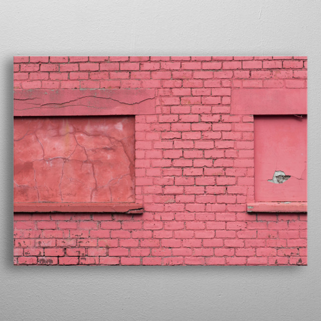 Very pretty pink wall near to where I live.  metal poster