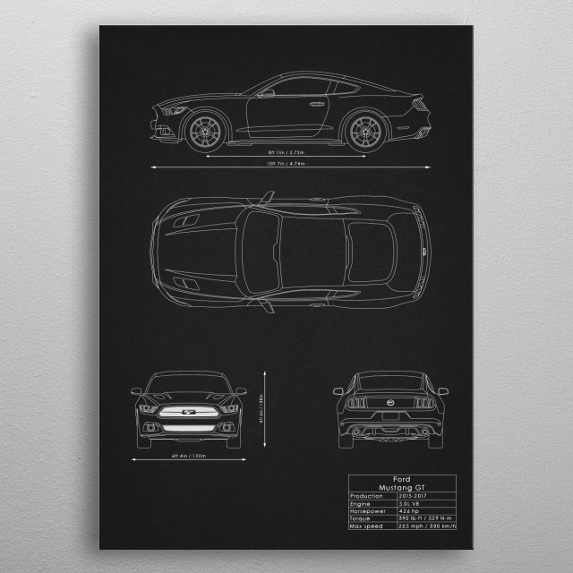 Ford Mustang GT metal poster