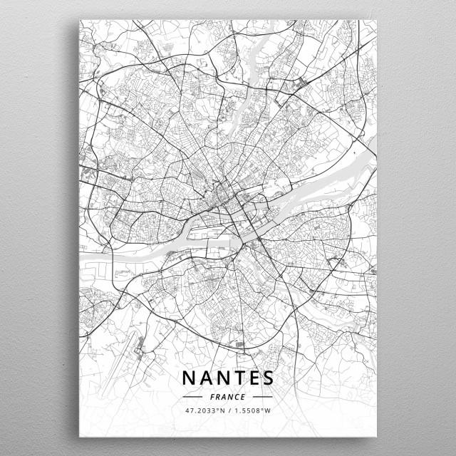 Nantes, France metal poster