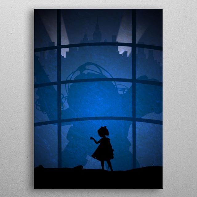 Minimalist Bioshock metal poster