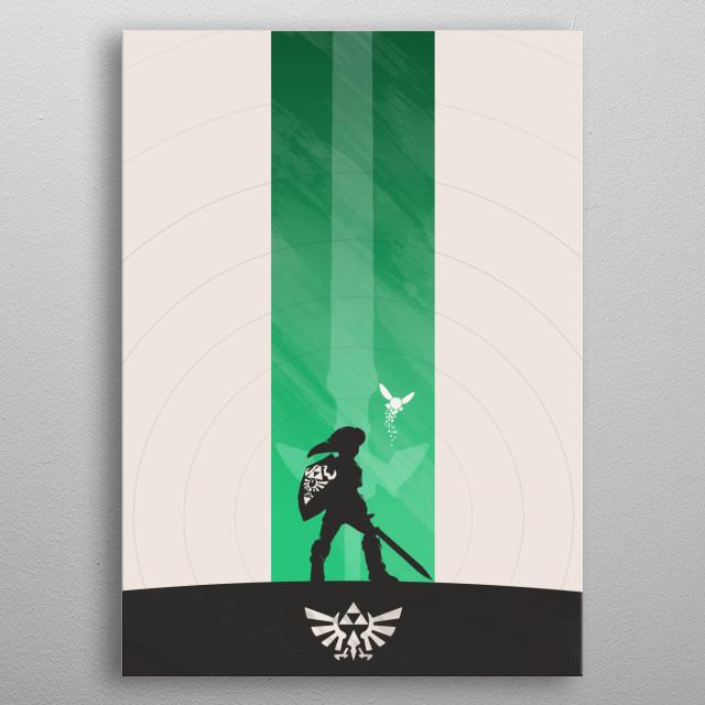 Ocarina of Time metal poster