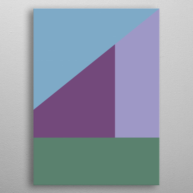 inspired by minimal color blocking. metal poster