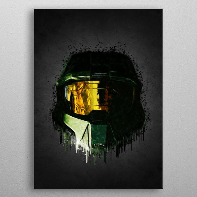 Halo Helmet  metal poster