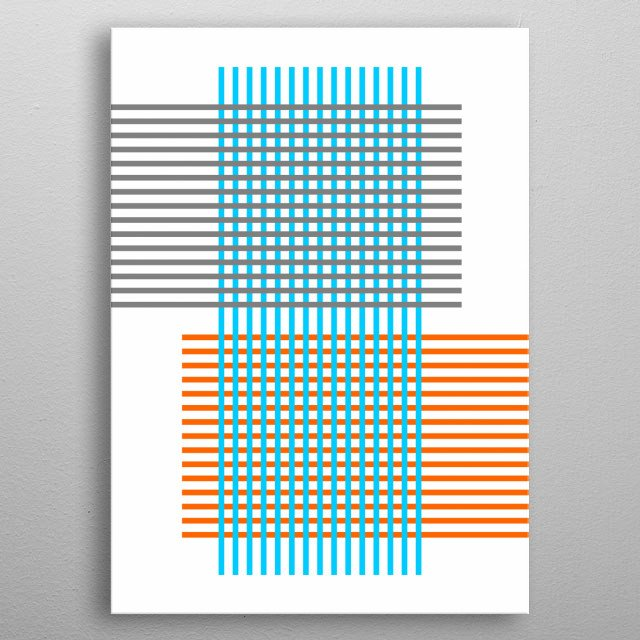 inspired by minimalism. metal poster