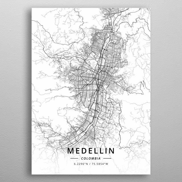 Medellin, Colombia metal poster