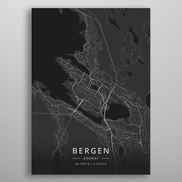 Bergen, Norway metal poster
