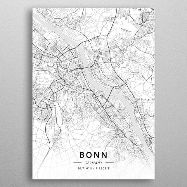 Bonn, Germany metal poster