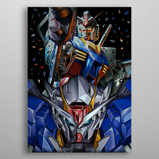 17 | Double Mecha Gundam metal poster