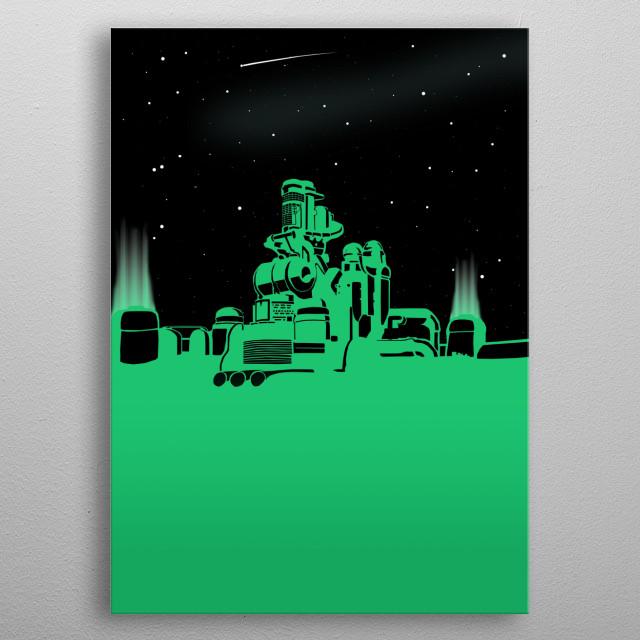 The City of Shinra metal poster