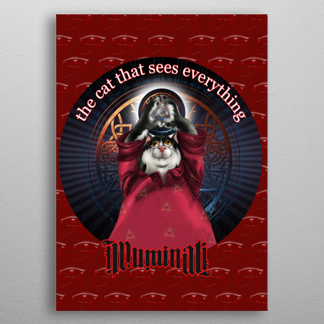 The All-Seeing Cat metal poster