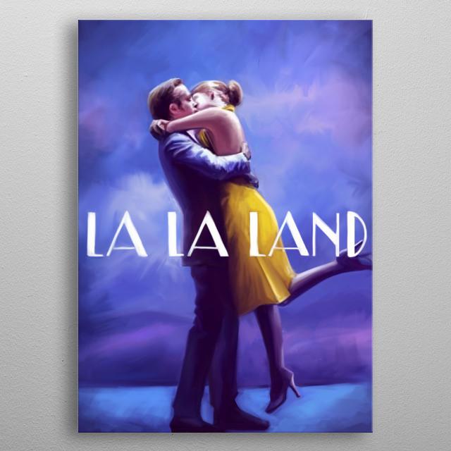 La La Land  metal poster