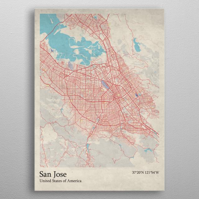 San Jose - USA metal poster