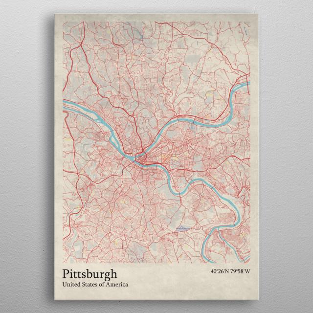 Pittsburgh - USA metal poster