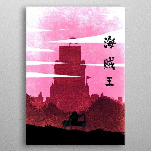 Enies Lobby Luffy metal poster