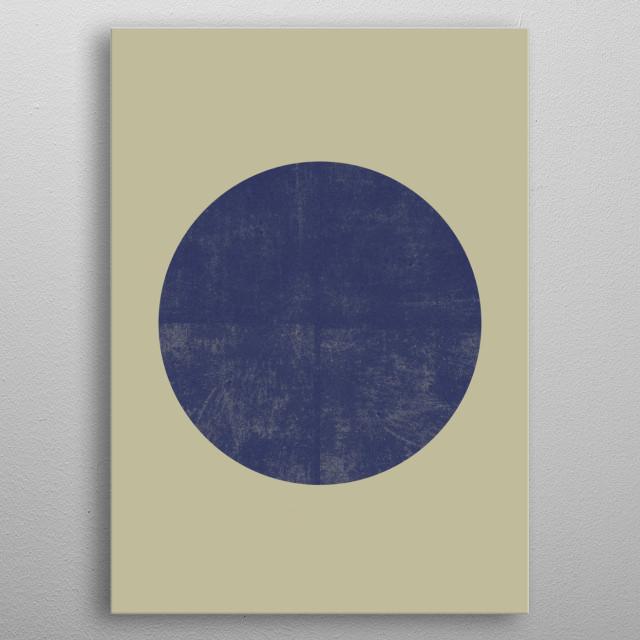 Black and Gold Circle 09 metal poster