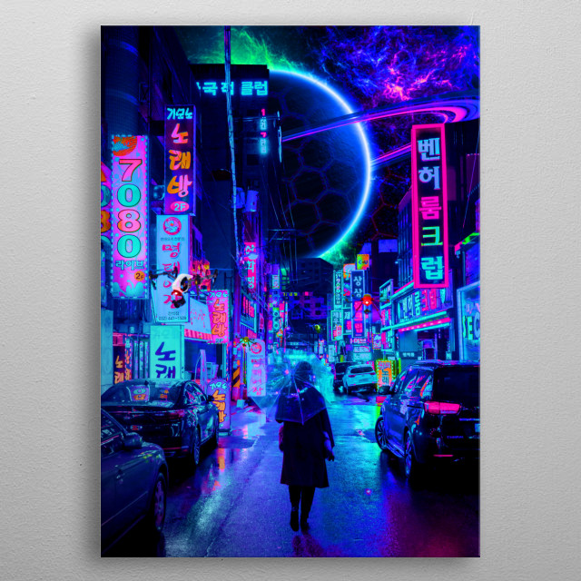 2077 shot by Steven Roe metal poster