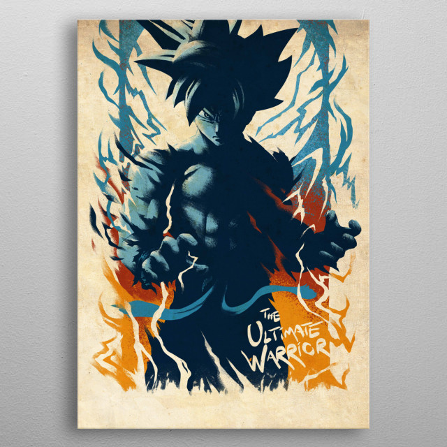 The Ultimate Warrior metal poster