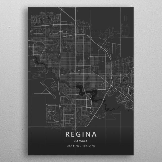 Regina, Canada metal poster